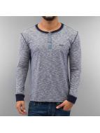Frank NY T-Shirt manches longues Button bleu