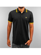 Fred Perry Poloshirt Tipped schwarz