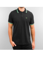 Fred Perry poloshirt Twin Tipped zwart