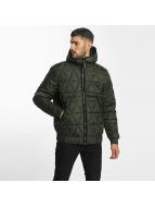 G-Star Kış ceketleri Strett Utility Myrow Pes Dye Quilted Hooded zeytin yeşili