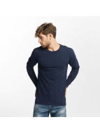 G-Star T-Shirt manches longues Kantano Jeffer Slub Jersey bleu