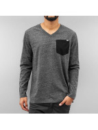 G-Star T-Shirt manches longues Riban Pocket Premium Compact Jersey gris