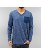 G-Star Tričká dlhý rukáv Riban Pocket Premium Compact Jersey modrá