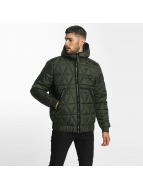 G-Star winterjas Strett Utility Myrow Pes Dye Quilted Hooded olijfgroen
