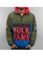 Grimey Wear Демисезонная куртка Fuck Fame зеленый