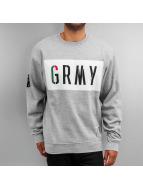 Grimey Wear Пуловер Nuff Respect серый