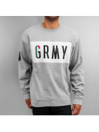 Grimey Wear Pullover Nuff Respect grau
