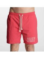 Grimey Wear Short de bain Rock Creek rouge
