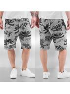 Grimey Wear Shorts Hunter All Over Print grau