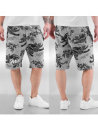 Grimey Wear shorts Hunter All Over Print grijs