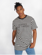 Grimey Wear T-shirt longoversize Mist Blues Curvy blanc