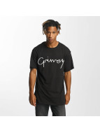 Grimey Wear t-shirt Natural zwart