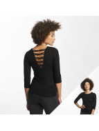 Hailys Пуловер jenny 3/4 Lace-Up черный