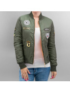 Hailys Bomberjacke Patches khaki