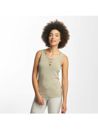 Hailys Ann Lace-Up Top Olive