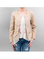 Hailys Leather Jacket Myriam beige