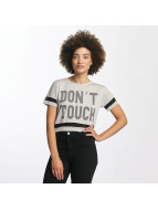 Hailys T-Shirty Bonnie Cropped szary