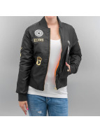 Hailys Veste bomber Patches noir