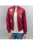 Hailys Veste bomber Patches rouge