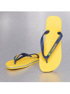 Havaianas Sandalen Brasil Logo gelb