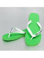 Havaianas Slippers/Sandalen Brasil Logo groen