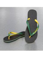 Havaianas Slippers/Sandalen Brasil Mix zwart