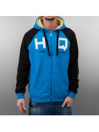 HQ Sweat à capuche zippé Zip Mike bleu