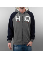 HQ Sweat à capuche zippé Zip Mike gris
