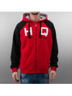 HQ Sweat à capuche zippé Zip Mike rouge
