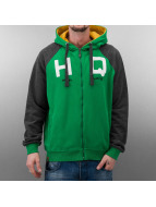 HQ Sweat à capuche zippé Zip Mike vert