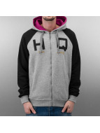 HQ Sweat capuche zippé Zip Mike gris