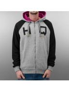 Zip Hoody Grey Melange/B...