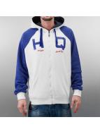 Zip Hoody White/Blue...