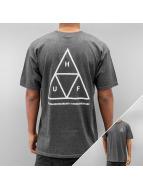 HUF Футболка Triple Triangle серый
