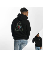 HUF Hoody Roses Triple Triangle schwarz