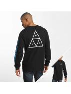 HUF Pitkähihaiset paidat Multi Triple Triangle musta