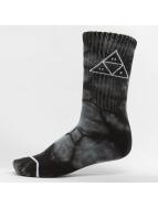 HUF Ponožky Triple Tie Dye èierna