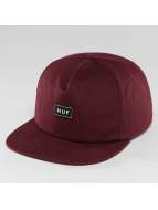 HUF Box Logo Snapback Cap Wine