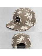 HUF Snapback Caps Jacquard Plantlife khakiruskea