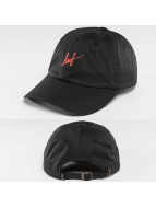 HUF Snapback Caps Script Curve Visor 6 Pannel musta