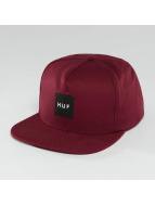 HUF Bar Logo Snapback Cap Wine