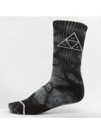 HUF Sokker Triple Tie Dye svart
