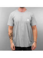 HUF T-Shirt Box Logo Pocket gris