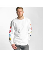 HUF T-Shirt manches longues 45 RPM blanc