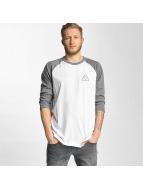 HUF T-Shirt manches longues Triple Triangle Raglan blanc