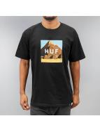 HUF T-Shirt Pyramids Box Logo noir