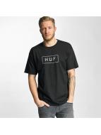 HUF T-Shirt Bar Logo schwarz