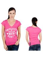 Hustler T-paidat University vaaleanpunainen