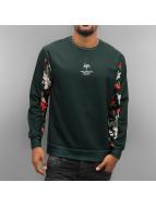 HYPE Пуловер Red Blossom зеленый
