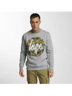 HYPE Пуловер Flower Circle серый